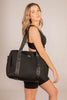 Olivia Jean (Ribbed Black) Weekender Neoprene Bag- With Zip Closure