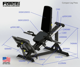FORCE USA - COMPACT STANDING LEG PRESS / CALF RAISE COMBINATION