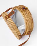 MIZ CASA & CO POPPY ROUND BASKET BAG NATURAL
