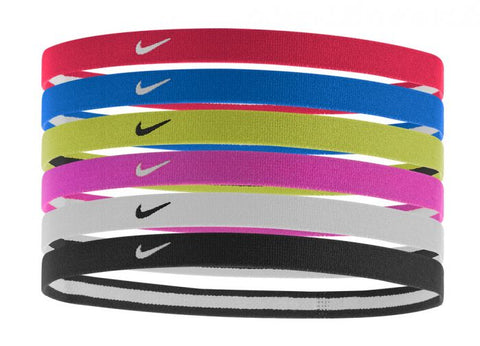 Nike Swoosh Sport Headbands 6 Pack University Red/Royal Blue/Volt