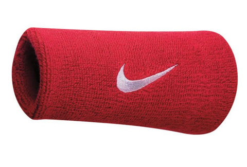Nike Swoosh Doublewide Wristbands Varsity Red