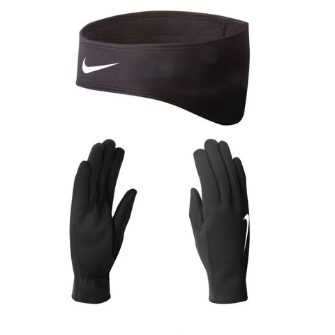 Nike Women's Dri-Fit Running Headband & Gloves Small