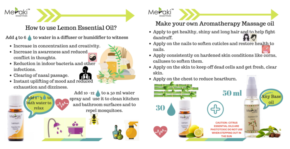 HOW TO USE LEMON ESSENTIAL OIL?