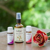 Floral Blend Combo - Clear Jojoba Oil , Palmrosa Essential Oil & Geranium Essential Oil