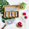 Gift Pack - Set of 4, 100% Pure & Natural Essential Oils & a Ceramic Diffuser