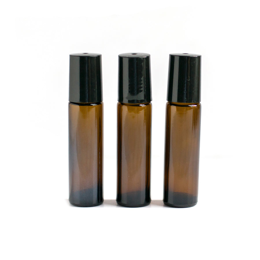 Glass Roll On Bottle (10 ml) - Set of 3