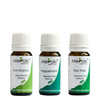 Steam Inhalation Combo - Eucalyptus Essential Oil (10 ml), Peppermint Essential Oil (10 ml) & Tea Tree Essential Oil (10 ml)