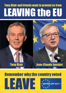150 'Blair & Juncker' Flyers