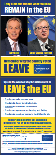 350 'Blair & Juncker' Flyers