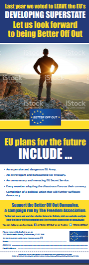 150 'EU Plans for the Future' flyers