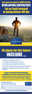 350 'EU Plans for the Future' flyers