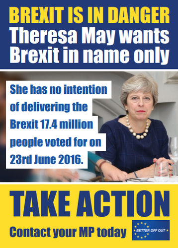150 'Brexit is in danger' Flyers