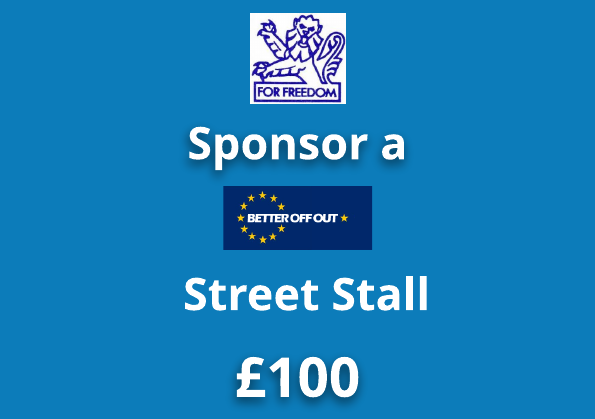 Sponsor a 'Better Off Out' Street Stall
