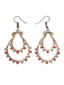 Copper Bollywood Style Earrings