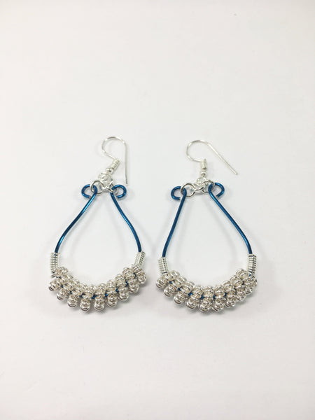 Silver Coiled Earrings