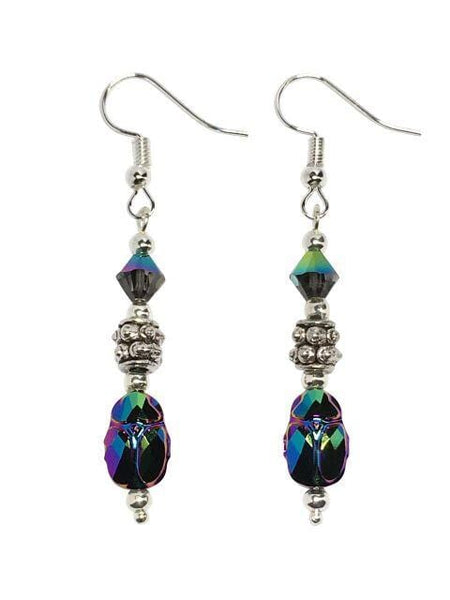 Swarovski Scarab Beetle Earrings