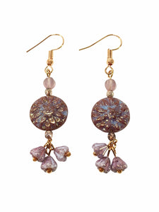 Blush Flower Earrings