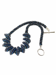 Beaded Cellini Spiral Statement Necklace