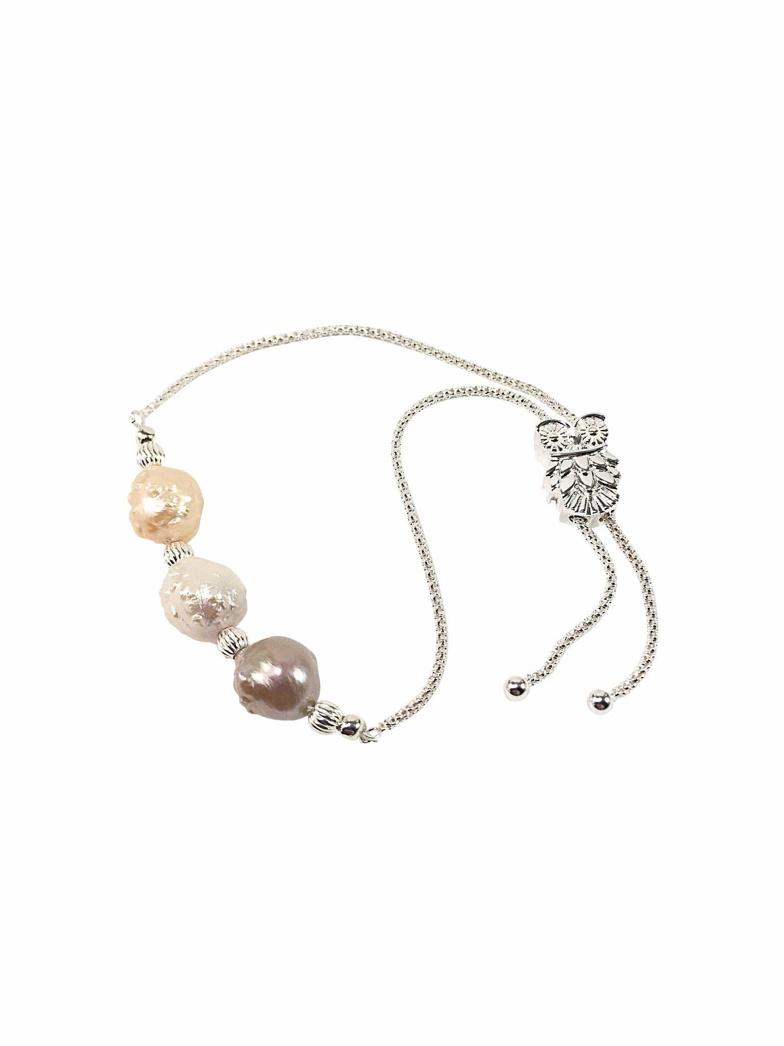 Handmade Sterling Silver And Pearl Bracelet