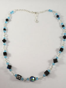 Black Fire Polished Bead Necklace