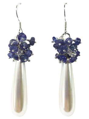 Tanzanite Cluster Earrings