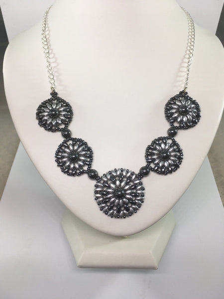 Hematite Disc Necklace