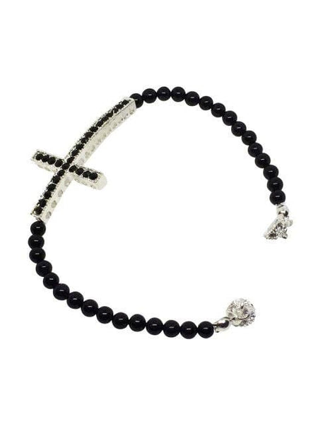 Gemstone Cross Bracelet