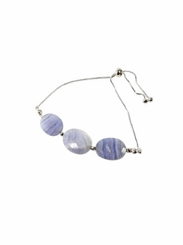 Blue Lace Agate Gemstone Bracelet