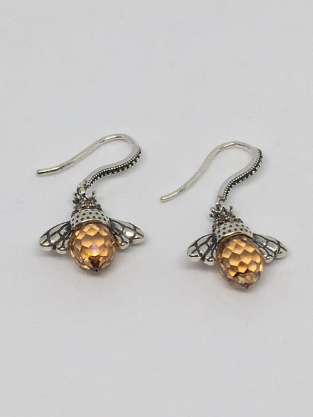 Silver Bumblebee Earrings