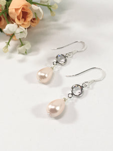 Sterling Silver Bridal Earrings