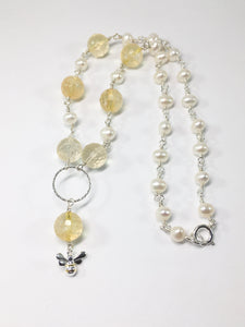 Citrine And Freshwater Pearl Necklace