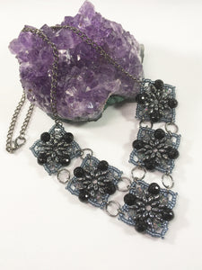 Black Agate Gemstone Necklace