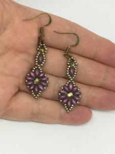 Antique Style Flower Earrings