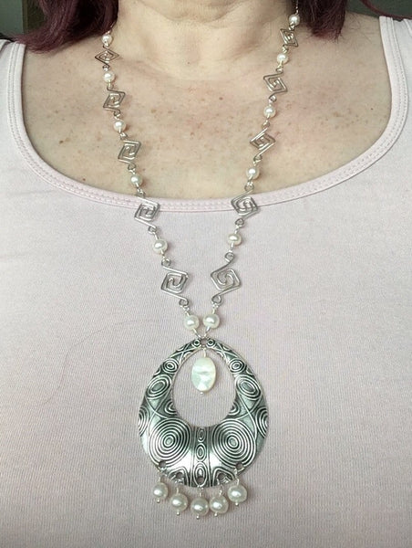 Pearl Squared Necklace