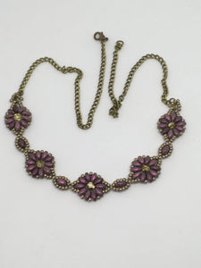 Antique Style Flower Necklace