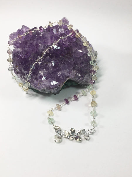 Silver Gemstone Necklace
