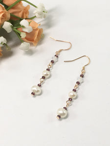Rose Gold Sterling Silver Pearl Earrings