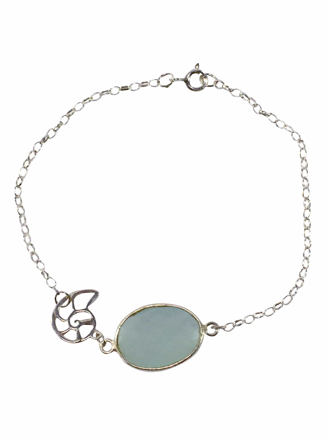Sterling Silver And chalcedony Bracelet