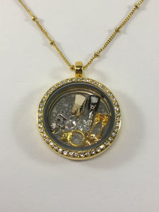Gold Stainless Steel Wedding Floating Locket