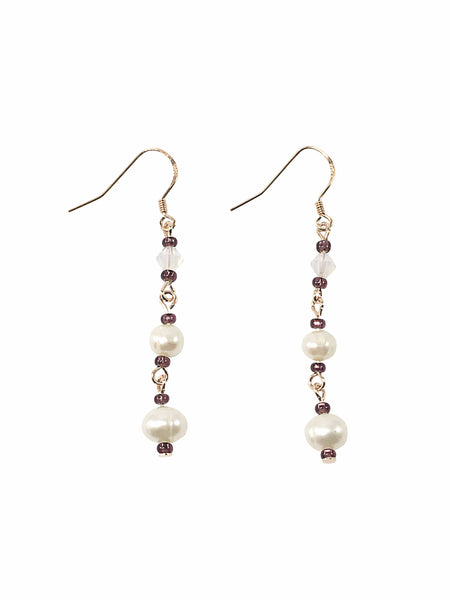 Handmade Sterling Silver Pearl Earrings