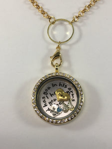 Dad Memorial Floating Locket Necklace