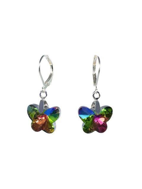 Rainbow Butterfly Earrings