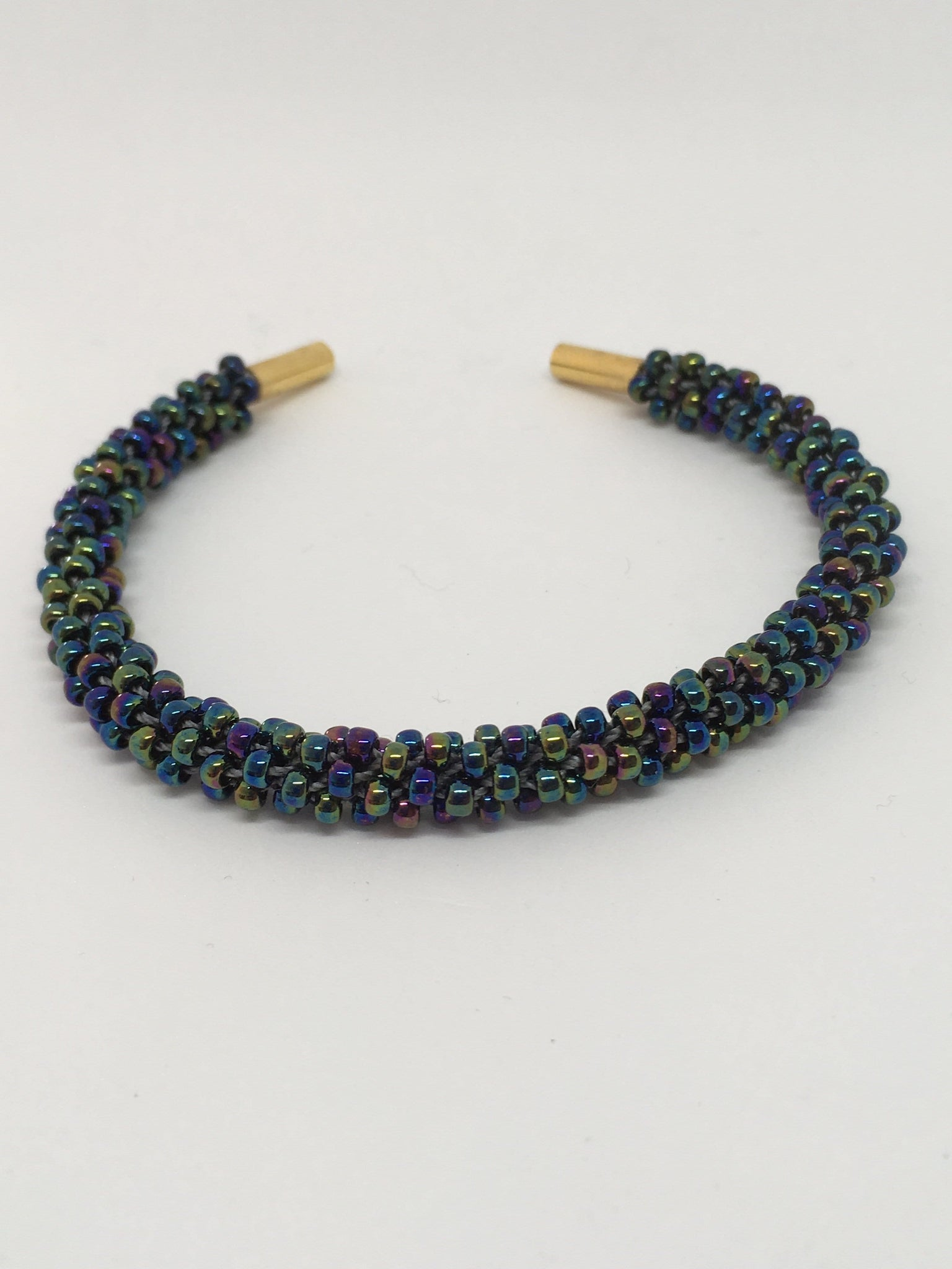 Slim Beaded Kumihimo Bracelet