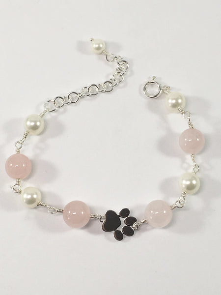 Rose Quartz Paw Bracelet