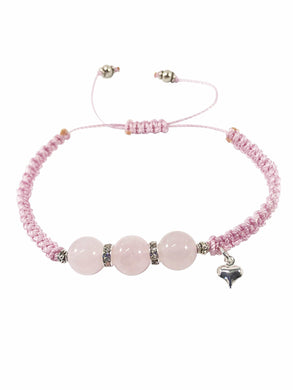 Rose Quartz Macrame Gemstone Bracelet