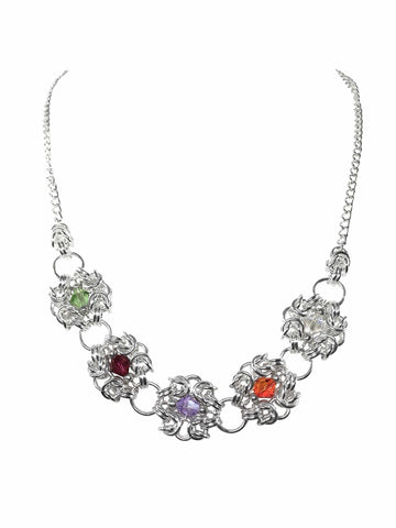 Swarovski Crystal Elements Romonov Chainmaille Necklace