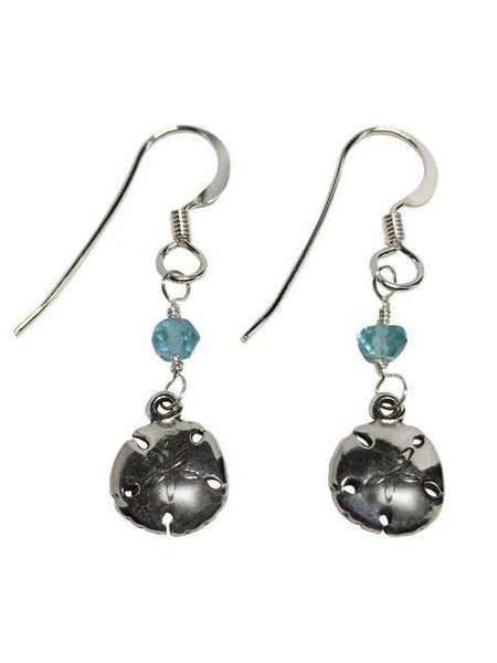 Sterling Silver And Apatite Sand Dollar Earrings