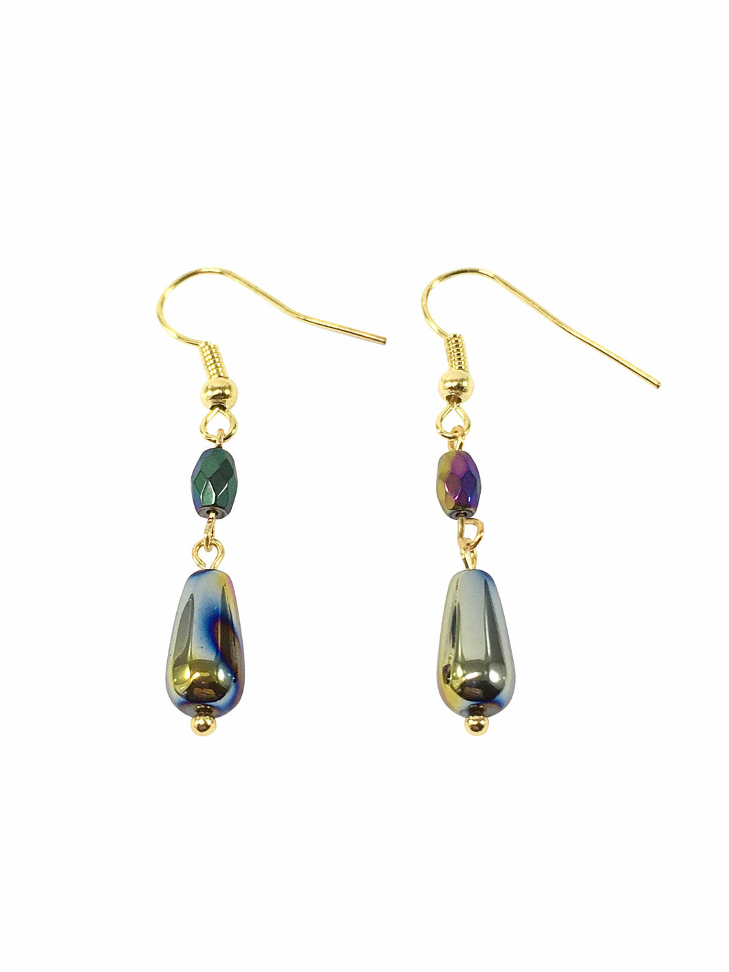 Rainbow Hematite Gemstone Earrings