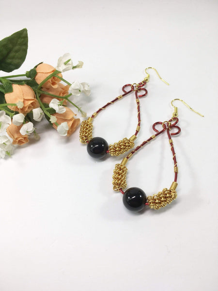 Agate Coiled Earrings