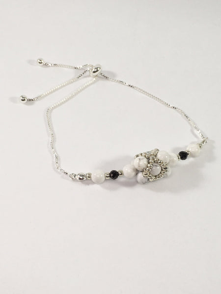 Howlite And Black Spinel Bracelet